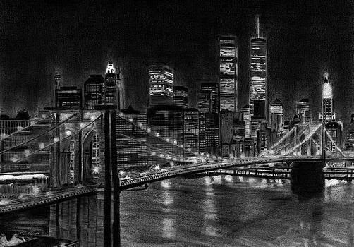 Brooklyn Bridge New York by David Rives