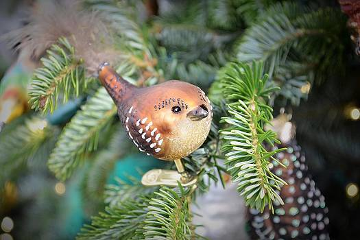Brown Bird Christmas Ornament by Wanda J King