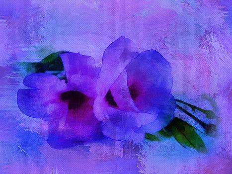 Brushing Flowers by Barbara R MacPhail