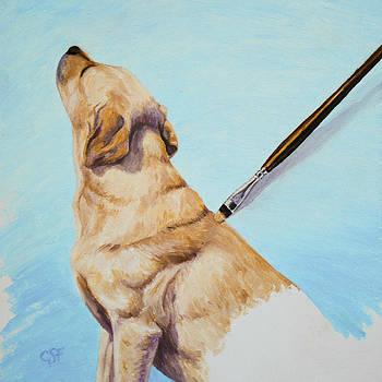 Crista Forest - Brushing the Dog