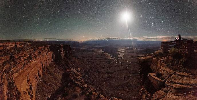 Buck Canyon By Moonlight by Mike Berenson
