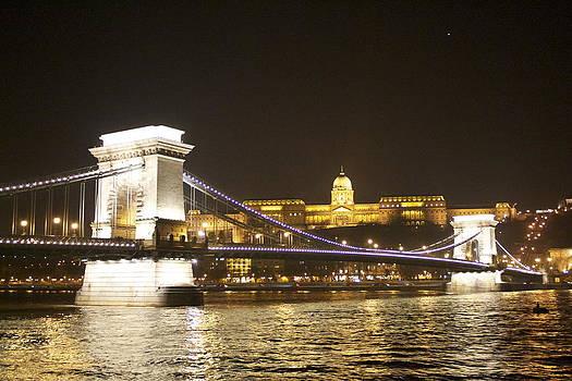 Budapest Magyar Chain Bridge by Lisa Anne McKee