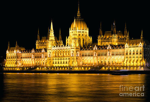 Budapest Parliament Night Shot by Kiril Stanchev