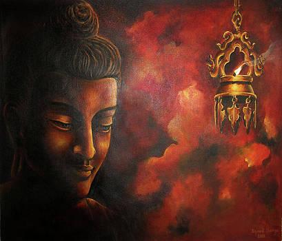 Buddha and the sacred lamp by Sazeed Shakya