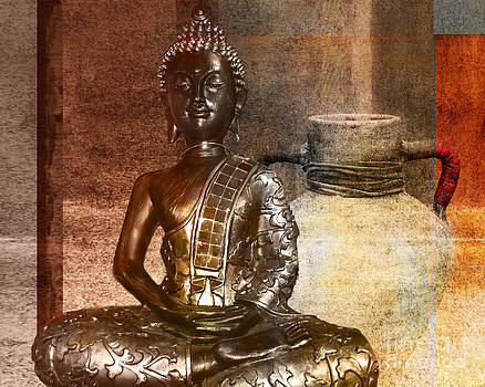 Buddha in sepia by Claudia Burlager