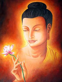 Buddha's Flower Sermon by Sazeed Shakya