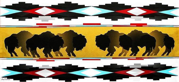 Buffalo herd by Paul Ferrara