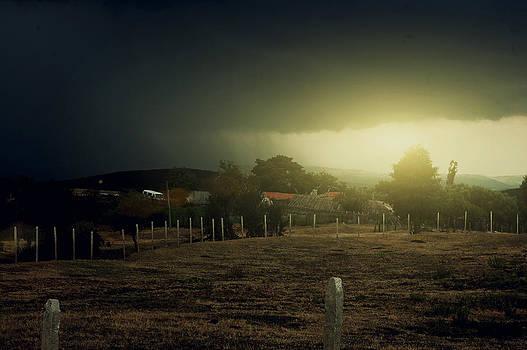 Bulgarije Sunset Dark Clouds by Aaldrik Bakker