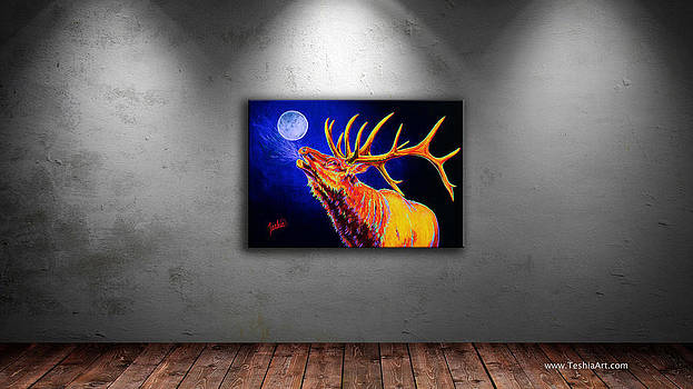 Teshia Art - Bull Moon DISPLAY IMAGE