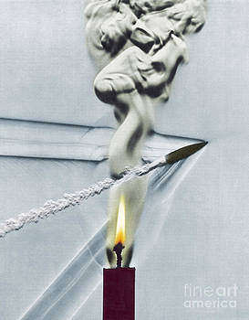 Science Source - Bullet Shot Through Candle Flame