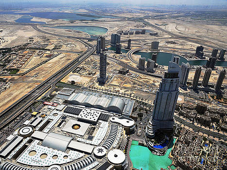 Burj Khalifa Observation Deck View - 01 by Graham Taylor