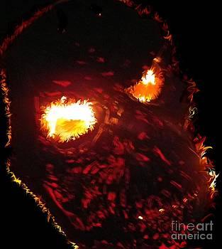 Burning Skull by Charleen Treasures