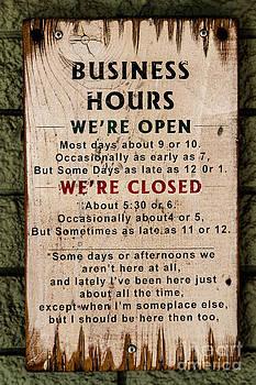 Jon Burch Photography - Business Hours