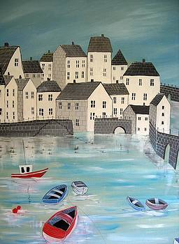Busy Harbour by Trudy Kepke