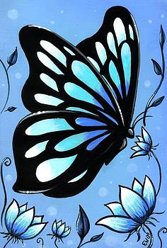 Butterflies And Flowers 11 by Elaina  Wagner