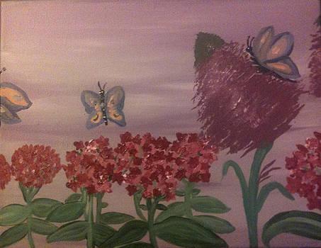 Butterfly Bush and Phlox by Toni  Di Nuzzo