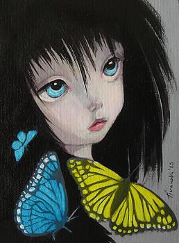 Butterfly fairy big eyes  by Temenuga Ivanova