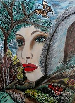 Butterfly Lady by Suzanne Thomas