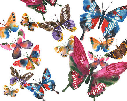Butterfly Painting by Alison Fennell