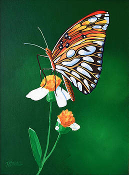 Butterfly Painting by David Kittrell