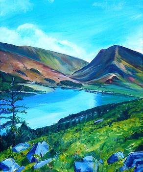 Buttermere from Red Pike by Robina Osbourne