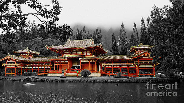 Cheryl Young - Byodo In Temple   selective color