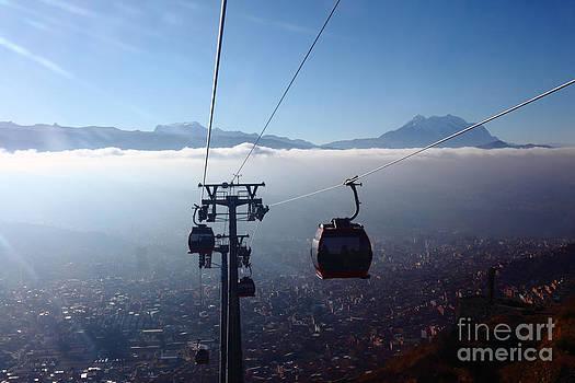 James Brunker - Cable Cars over La Paz City