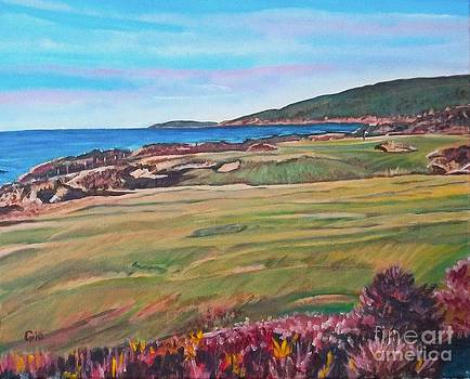 Cabot Links Hole Fifteen by Frank Giordano