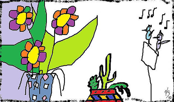 Cactus Singers by Vivian Sutherland