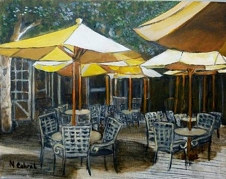 Cafe at Sunrise by Maggie  Cabral