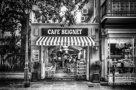 Kathleen K Parker - Cafe Beignet Morning NOLA - BW