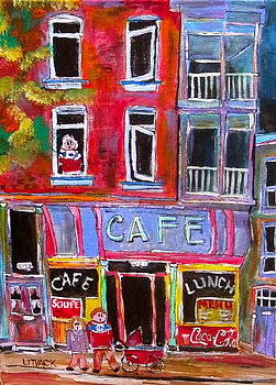Cafe Notre Dame by Michael Litvack