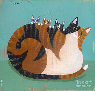 Calico Mother and Kittens by Ryan Conners
