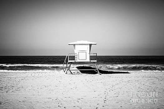 Paul Velgos - California Lifeguard Tower Black and White Picture