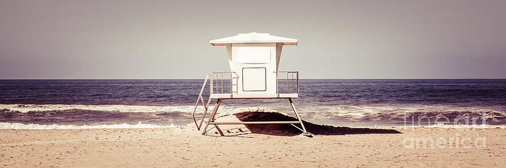 Paul Velgos - California Lifeguard Tower Retro Panoramic Picture