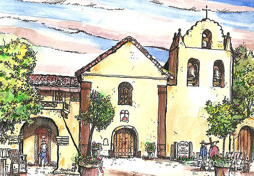 California Mission-Santa Ines by Terry Banderas