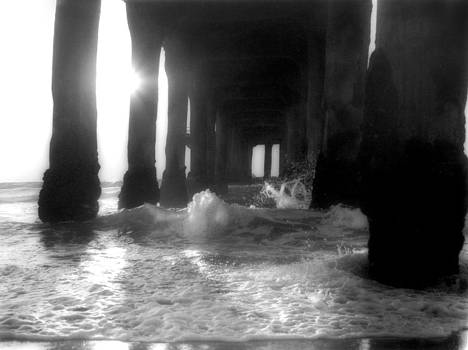 Eric Benjamin - California Pier Black and White