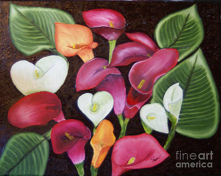 Calla Lilies by Edward C Van Wicklen Sr