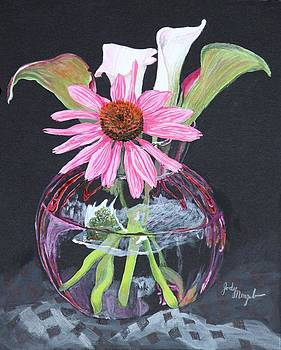 Callas and coneflower by Jody Neugebauer
