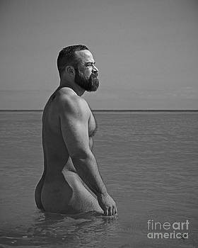 Cameron at the beach by Chris  Lopez