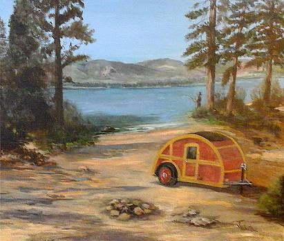 Camping at the Lake by Judie White