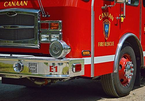 Canaan Fire Dept Engine 1 by Sharon L Stacy