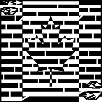 Canadian Flag Maze  by Yonatan Frimer Maze Artist