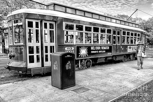 Kathleen K Parker - Canal Street Streetcar NOLA - BW