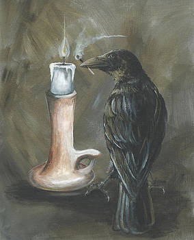 Candle and Crow by Christine StPierre