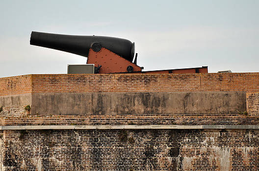 Cannon Atop Fort Pickens in Florida by Bruce Gourley