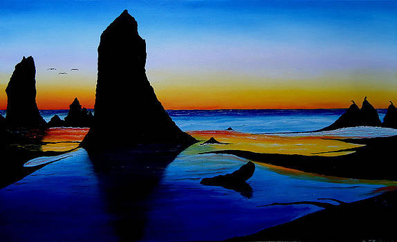 Cannon Beach At Sunset 15 by Portland Art Creations