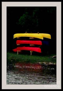 Gail Matthews - Canoes waiting on shore