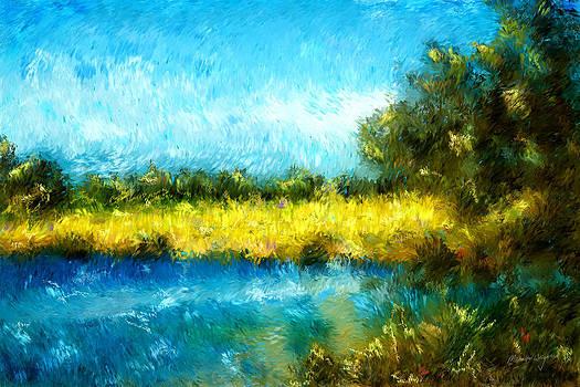 Michelle Wrighton - Canola Fields Impressionist Landscape Painting