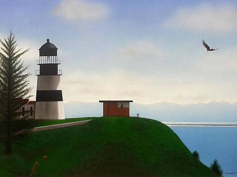 Cape Disappointment Lighthouse  by Brenda Bliss